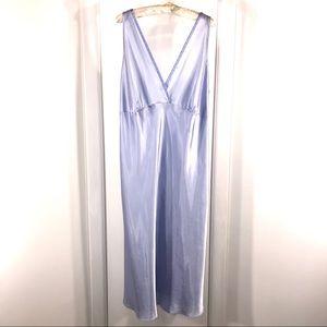 Jones New York Light Blue Satin Nightgown, Size 3X